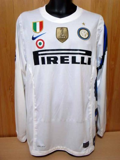 10/11 Inter Milan #4 Zanetti Match-issued away shirt (1) UEFA Champions League