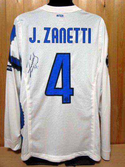 10/11 Inter Milan #4 Zanetti Match-issued away shirt (2) UEFA Champions League