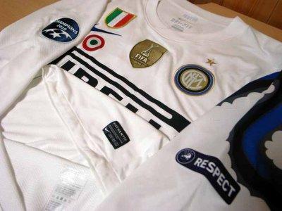 10/11 Inter Milan #4 Zanetti Match-issued away shirt (3) UEFA Champions League