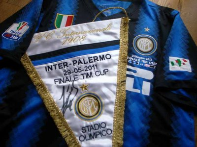 Inter Milan match pennant for TIM CUP 2011