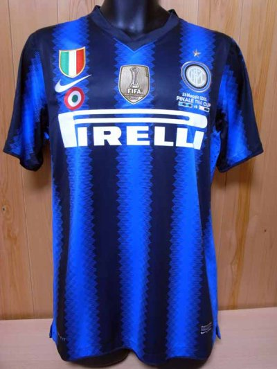 10/11 Inter Milan #55 Nagatomo Match-issued home shirt (1) TIM CUP 2011