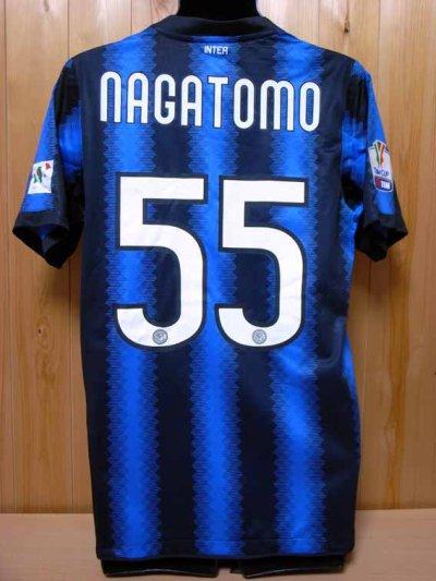 10/11 Inter Milan #55 Nagatomo Match-issued home shirt (2) TIM CUP 2011