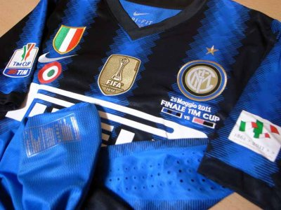 10/11 Inter Milan #55 Nagatomo Match-issued home shirt (3) TIM CUP 2011