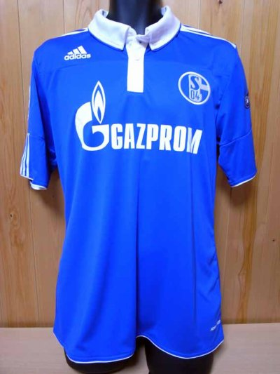 10/11 Schalke 04 #7 Raul Match-issued home shirt (1) UEFA Champions League