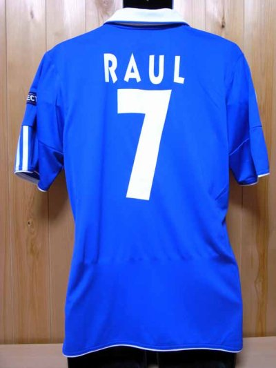 10/11 Schalke 04 #7 Raul Match-issued home shirt (2) UEFA Champions League