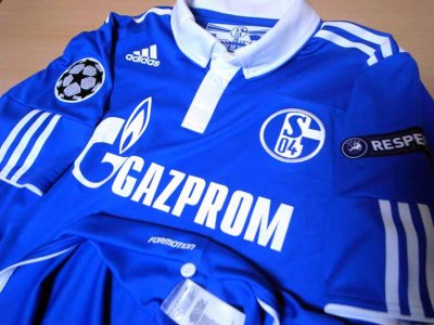 10/11 Schalke 04 #7 Raul Match-issued home shirt (3) UEFA Champions League