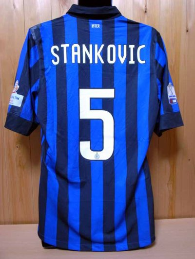 2011 Inter Milan #5 Stankovic Match-worn home shirt (2) Italy Super Cup 2011