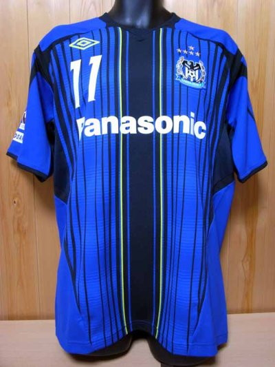 2011 Gamba Osaka #11 Usami Memorial home shirt (1) J-League