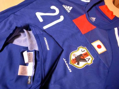 Japan #21 Yasuda Match-worn home shirt (3) KIRIN CHALLENGE CUP 2011