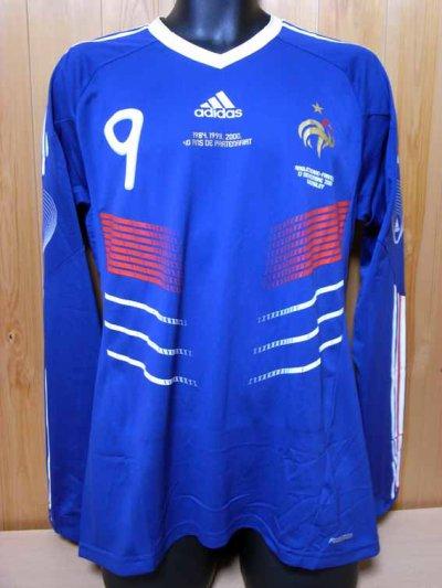 France #9 Hoarau Match-issued home shirt (1) International friendly match