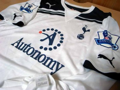 Tottenham #3 Bale Match-worn home shirt (3) Premier League