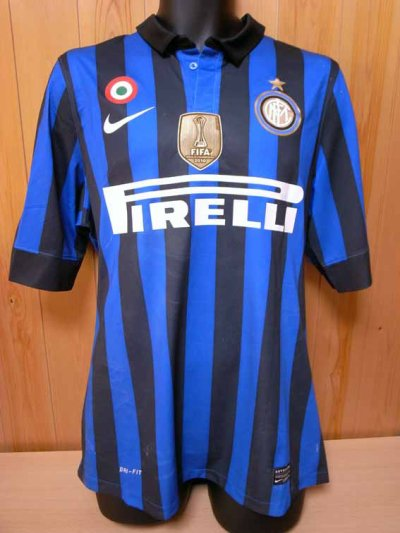 11/12 Inter Milan #28 Zarate Match-worn home shirt (1) Serie A/Lega Calcio