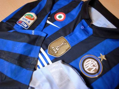 11/12 Inter Milan #28 Zarate Match-worn home shirt (3) Serie A/Lega Calcio