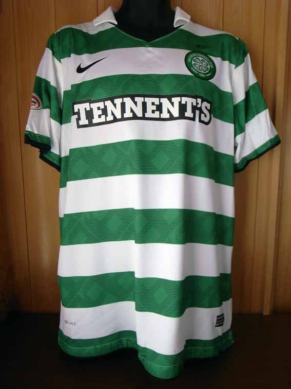 10/11 Celtic #22 Loovens Match-worn home shirt (1) Scottish Premier League