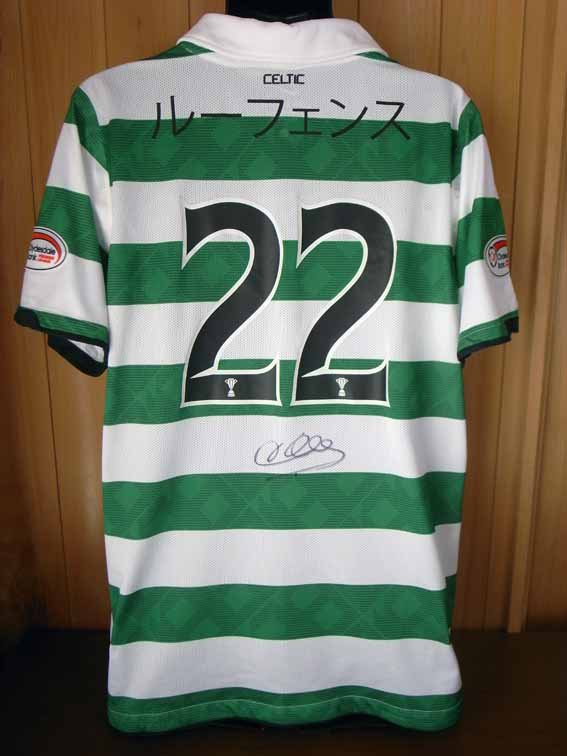 10/11 Celtic #22 Loovens Match-worn home shirt (2) Scottish Premier League