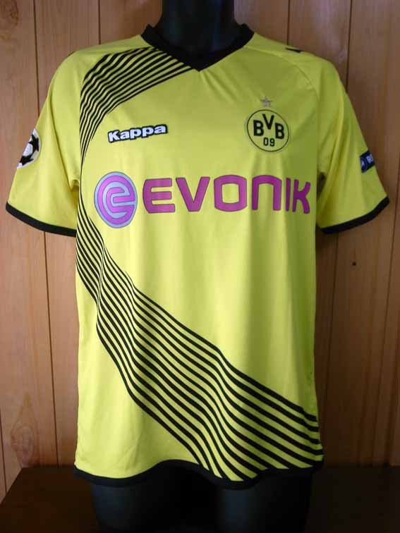 11/12 Borussia Dortmund #11 Mario Gotze Match-worn home shirt (1) UEFA Champions League