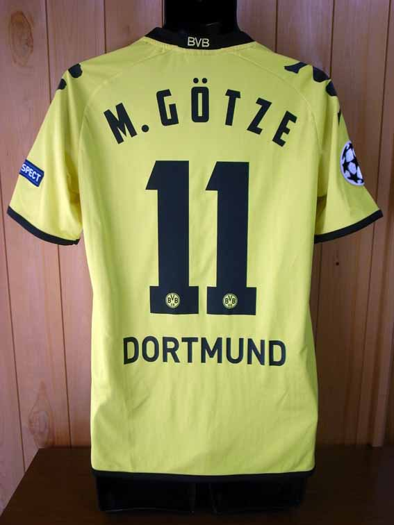 11/12 Borussia Dortmund #11 Mario Gotze Match-worn home shirt (2) UEFA Champions League