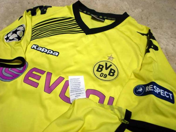 11/12 Borussia Dortmund #11 Mario Gotze Match-worn home shirt (3) UEFA Champions League