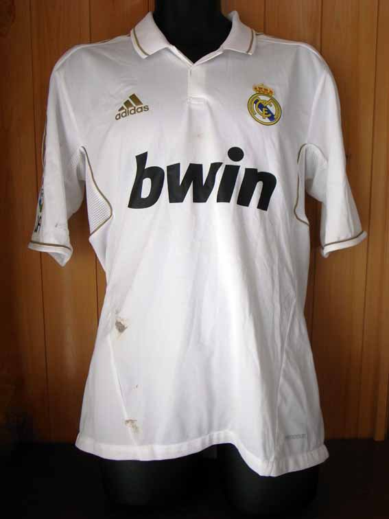 11/12 Real Madrid #3 Pepe Match-worn home shirt (1) Liga espanola