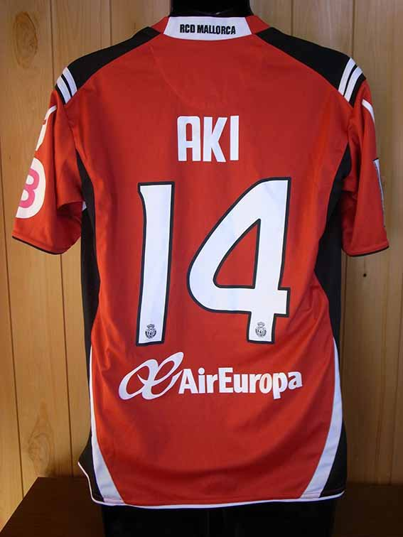 "10/11 Real Mallorca #14 ""Aki"" Ienaga Match-worn home shirt (2) Liga espanola"