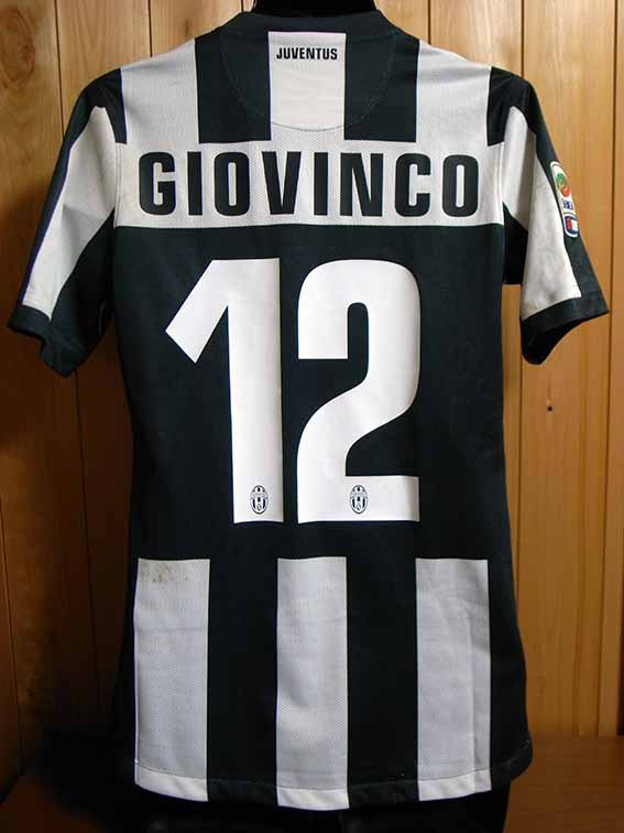 12/13 Juventus #12 Giovinco Match-worn home shirt (2) Serie A/Lega Calcio