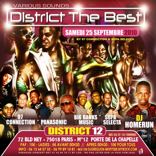 SAMEDI 25 SEPTEMBRE 2K10 DISTRICT 12 KA BYE