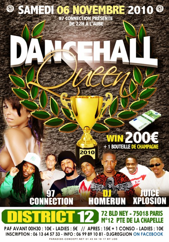SAMEDI 6 NOVEMBRE 2K10 DANCE HALL QUEEN O DISTRICT 12
