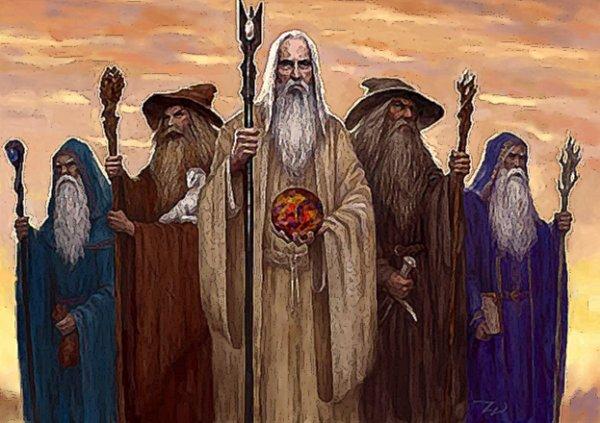 les Istari ( magiciens ) dans Bilbo le Hobbit
