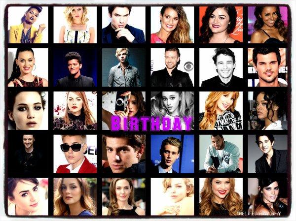 Anniversaire De Stars Et De Blogueuses !