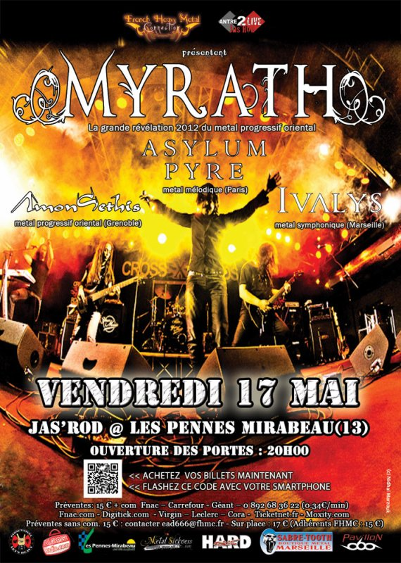 [17/05/2013] MYRATH (révélation 2012 metal progressif oriental) + guests @ MARSEILLE