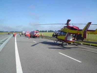 accident de circulation avec intervention du dragon 76