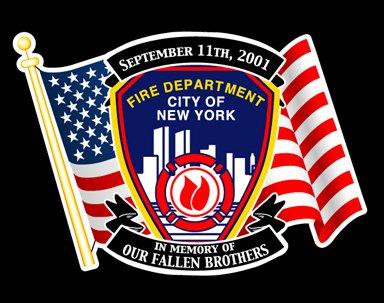 Hommage aux sapeur pompier mort en service le 11 Septembre 2001