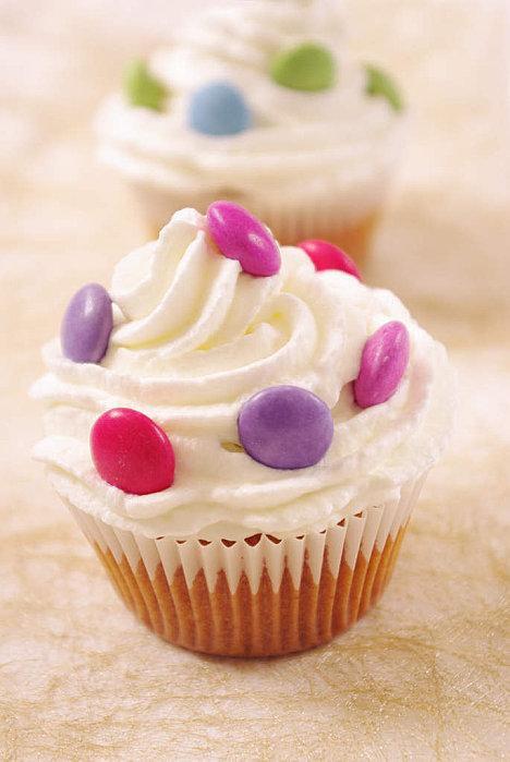 Cupcakes aux smarties !!!