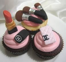 Voilà un petit cupcakes pour ceux qui adore le maquillage !!!!