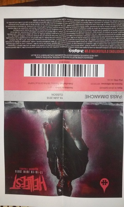 Ticket hellfest 2016