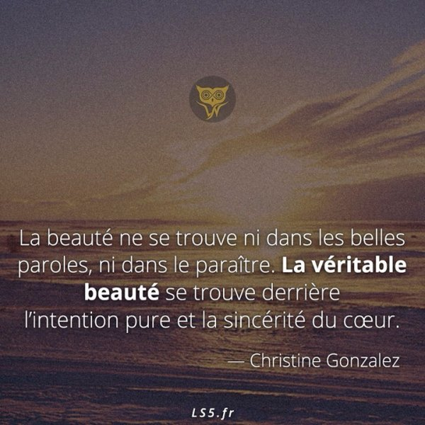 La veritable beauté ❤️
