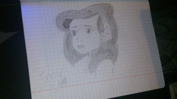 mon dessin d ariel la petite sirène en noir et blanc