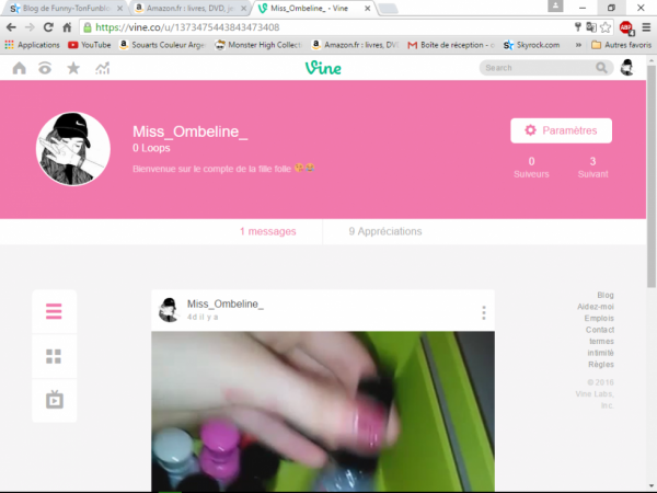 Follow me on Vine ♥