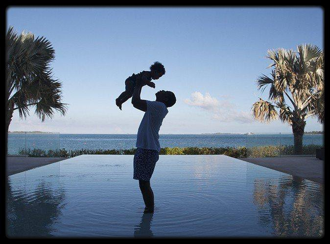 Jay-Z et  Blue Ivy PHOTO