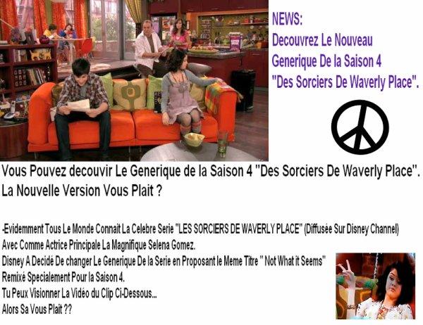 """Decouvrez Le Nouveau Generique De La Saison 4 """"Des Sorciers De Weverly Place""""."""