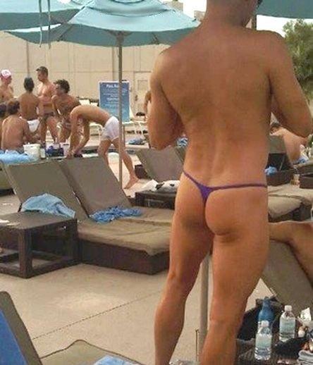 en string ficelle a la piscine