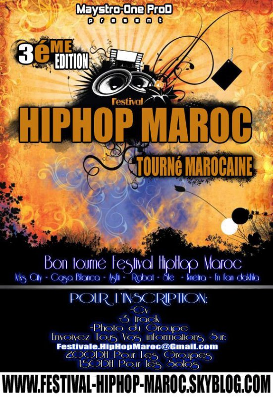 Afich D'inscription de La Tourné Nationalle de HipHOp Maroc