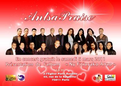 Concert Gratuit le Samedi 5 mars à Bastille