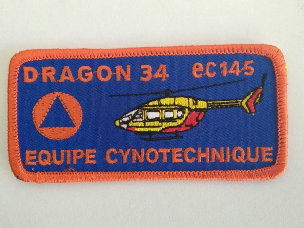 Authentique Écussons Dragon34 Equipe Cyno