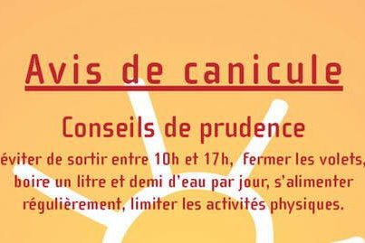 CANICULE POUR CE WEEK END !!!