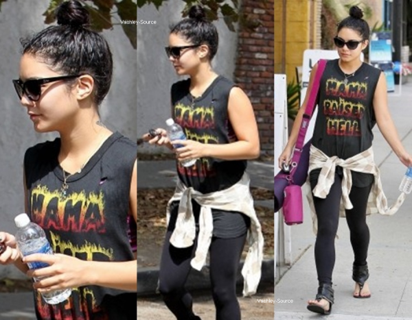24/08/2012 - Vanessa a été vue se rendant à son cours de yoga, à Studio City. Top ou Flop?