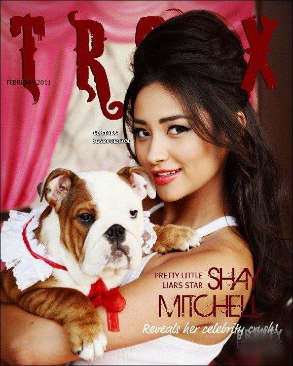 shay en couverture de troix magazine
