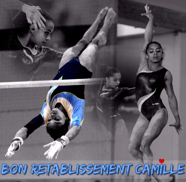 Camille Coudret blessée