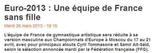 L'équipe de France entrain de s'effondrer ?