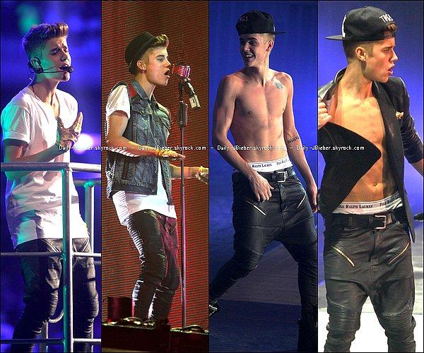29/11/2012 :  Justin Bieber a assuré son show pour sa tournée mondiale à Madison Square Garden, NYC.